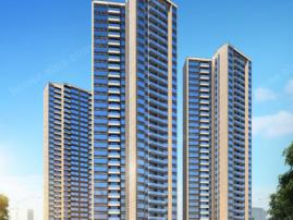 目前在售87-120平三四房,,均价约19000元/平两梯四户设计